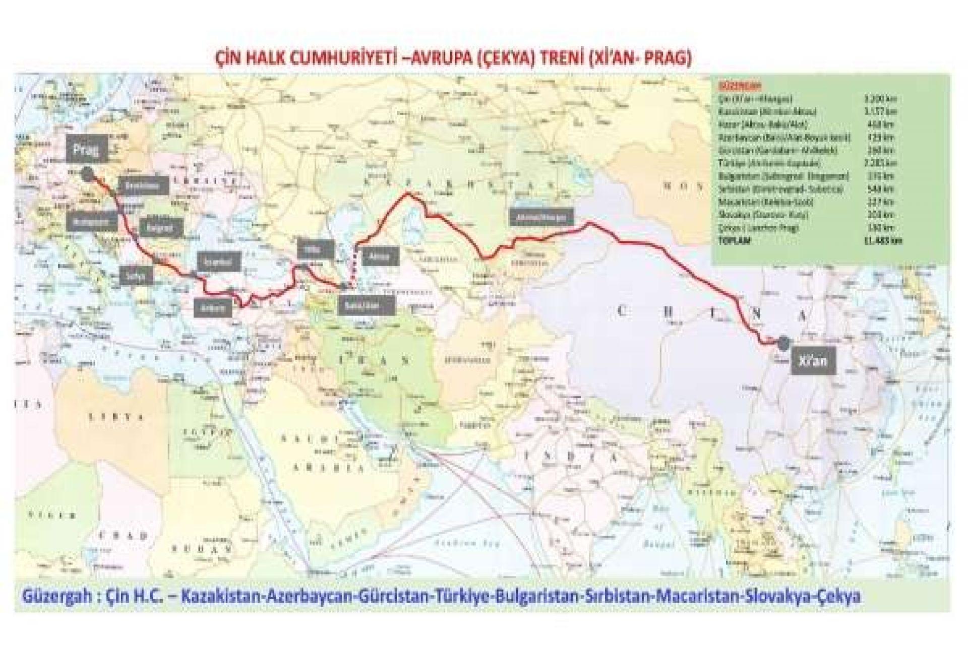 Bakı-Tbilisi-Qars dəmir yolu xətti ilə hərəkət edəcək Türkiyənin ikinci ixrac qatarı Çinə doğru yola düşüb